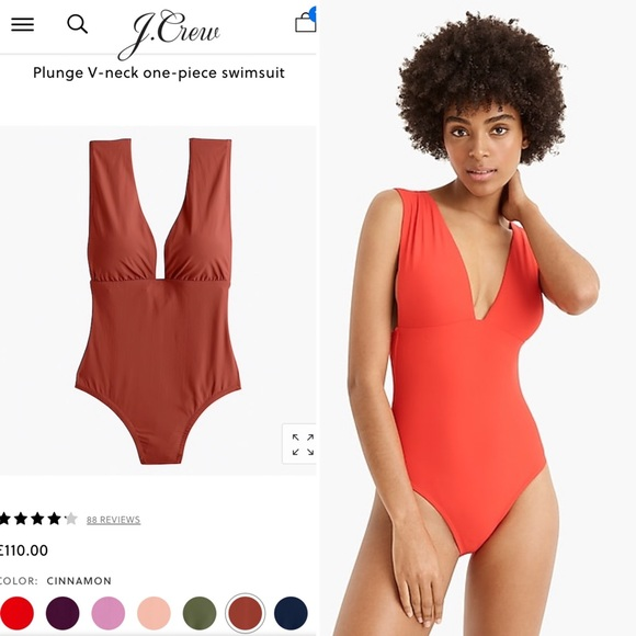 J. Crew Other - J. CREW Copper Plunge V-neck one-piece swimsuit 4